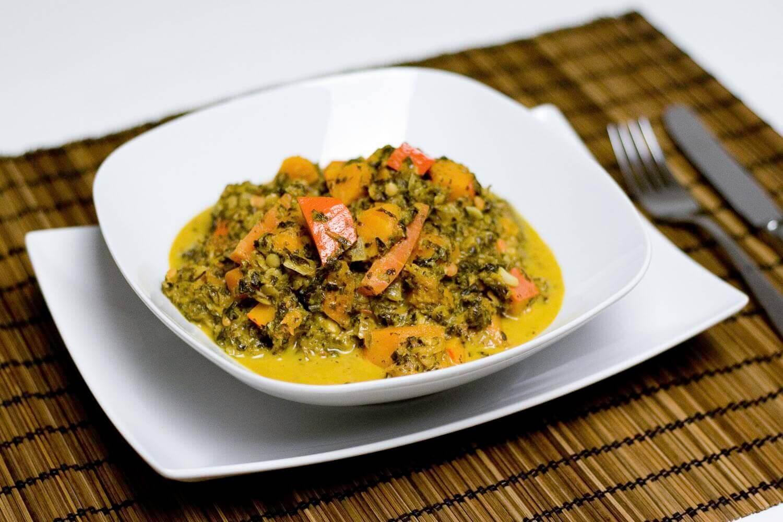 veganes Grünkohl Kürbis Curry