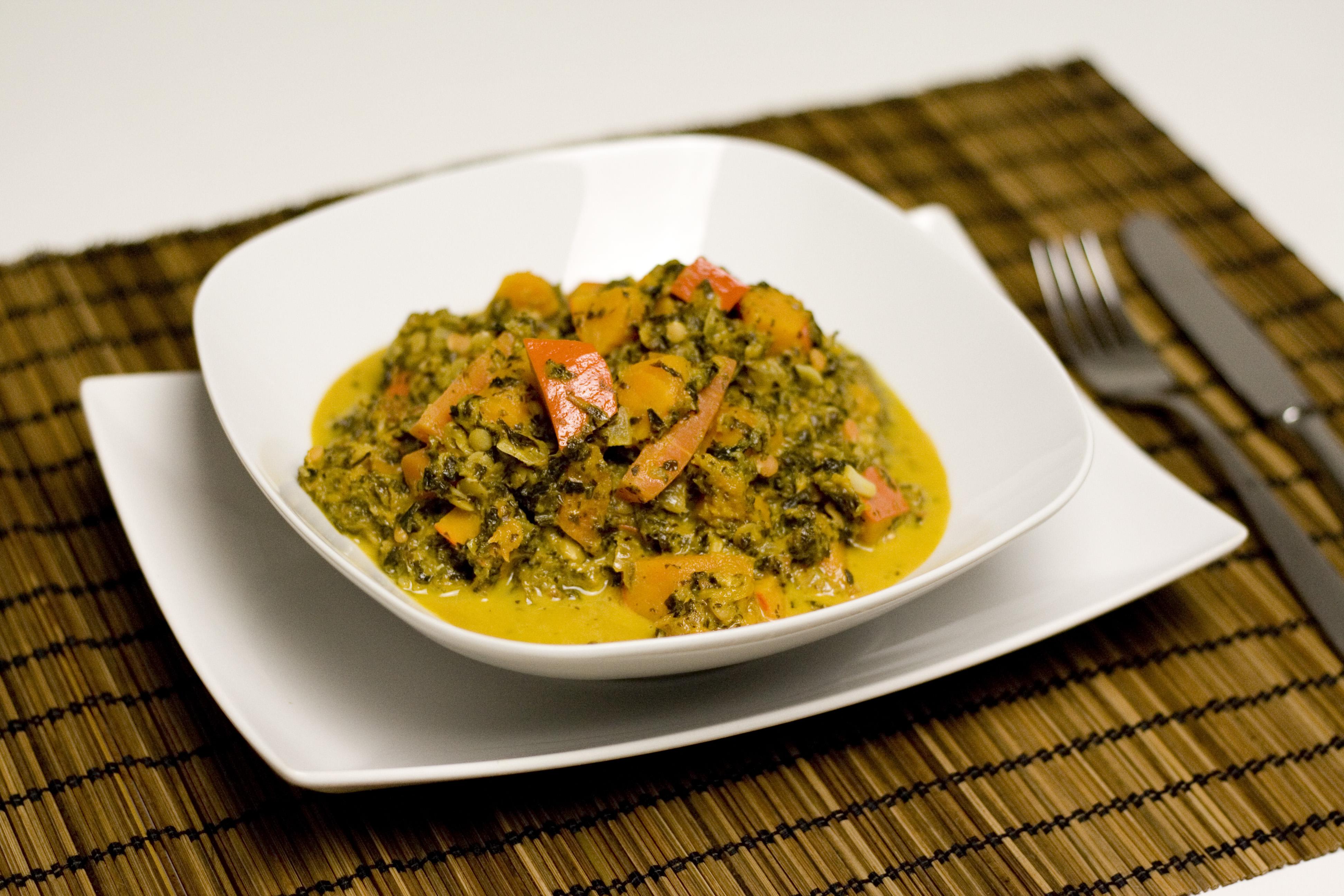 Grünkohl-Kürbis-Curry
