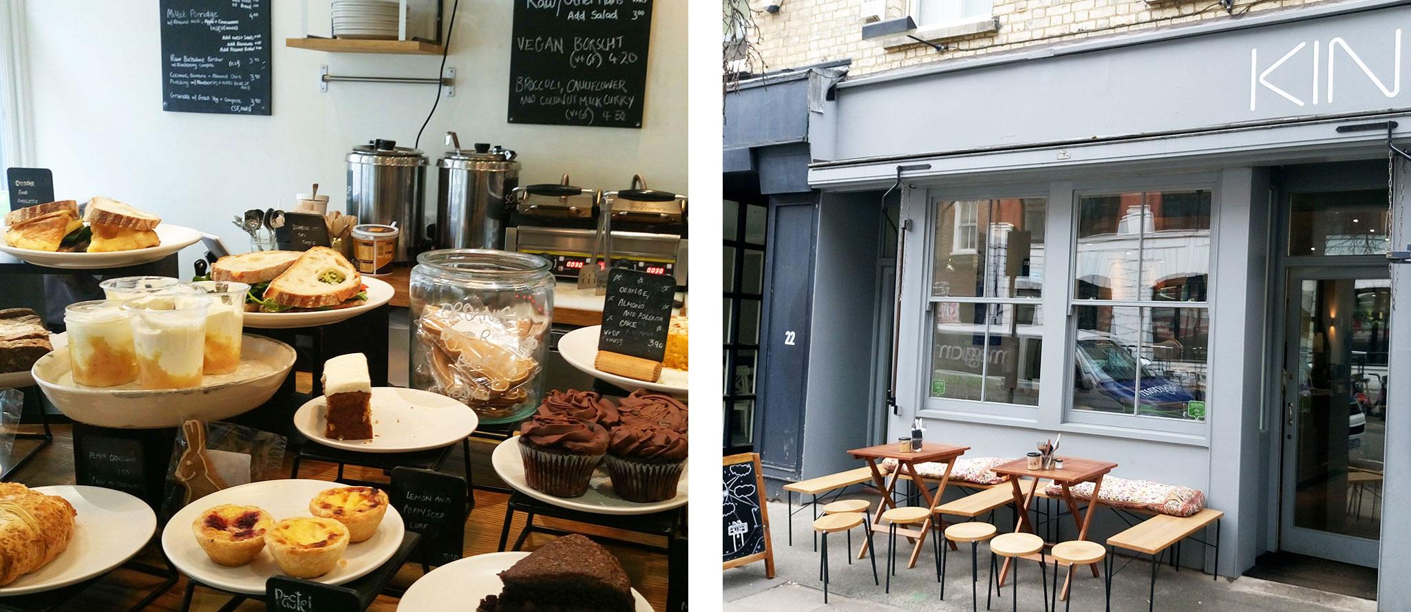 Vegan in London frühstücken bei Kin Cafe