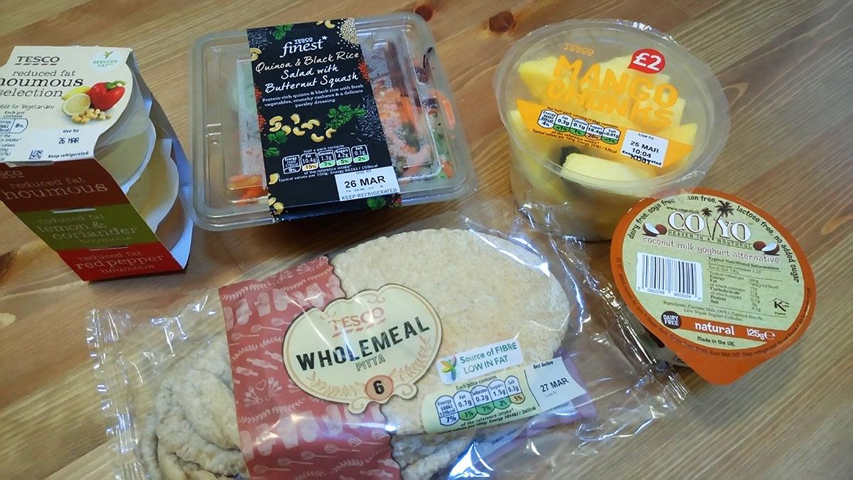 vegan in London zum Mitnehmen von Tesco Supermarkt