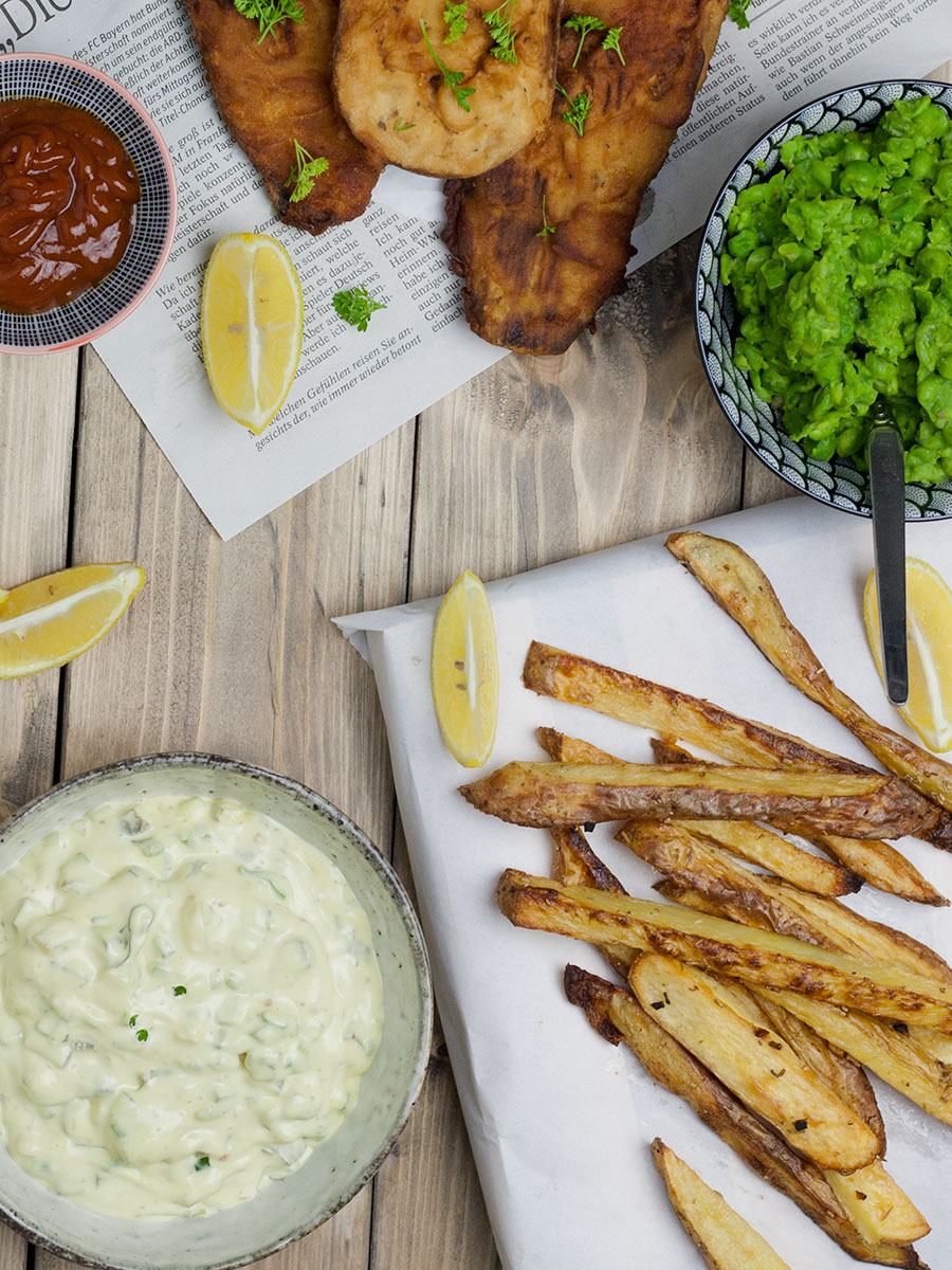 fish and chips vegan