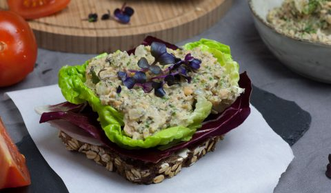 """Kichererbsen-""""Thunfisch""""-Salat vegan"""