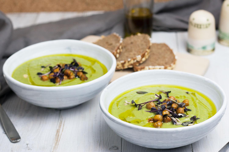 vegane Brokkoli-Lauch-Suppe