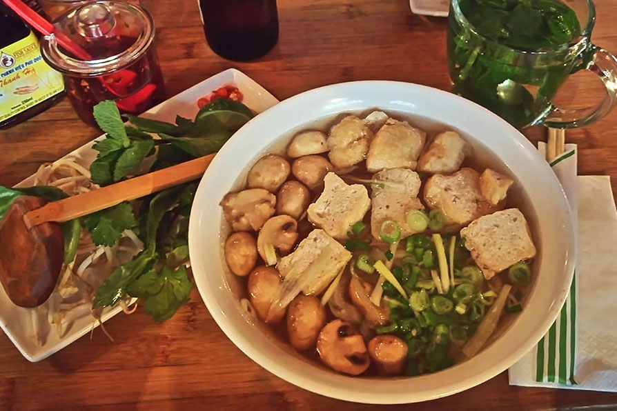 vegane Pho im Pho in London