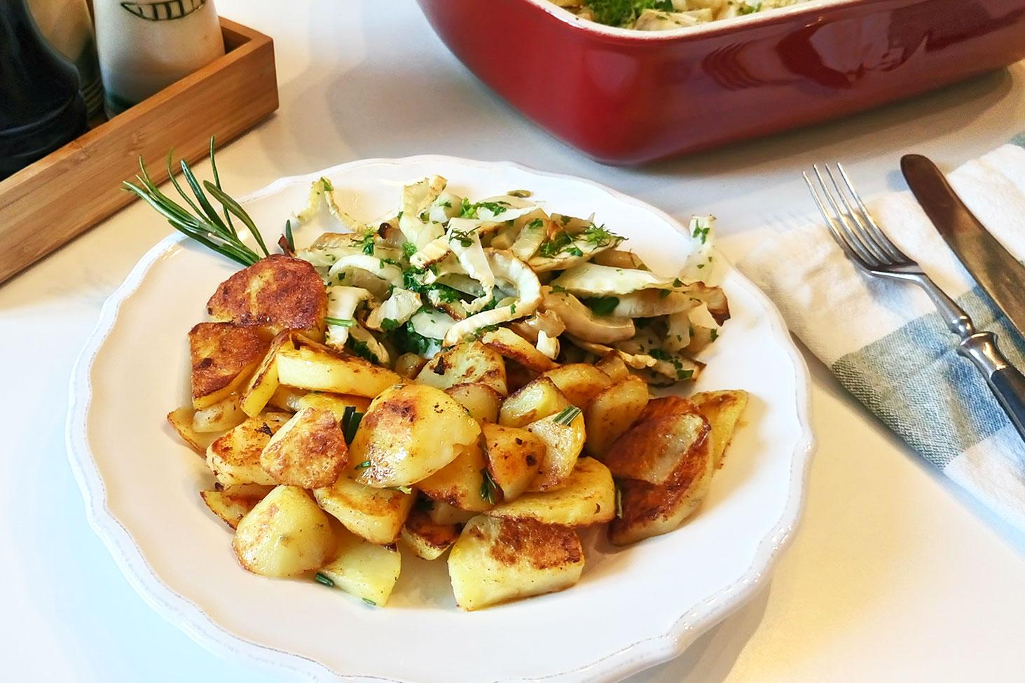 basisches Essen: Kartoffeln mit Fenchel, Abendessen während dem Basenfasten bzw. in der Entgiftungskur