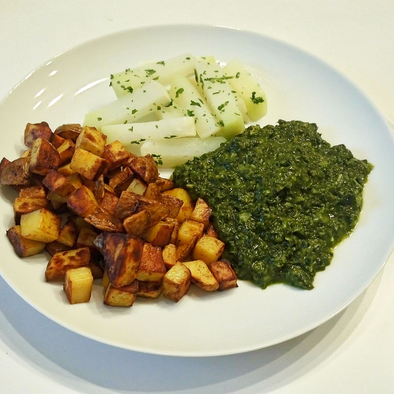 basisches Essen: Kartoffeln mit Kohlrabi und Grünkohl, Basenfasten
