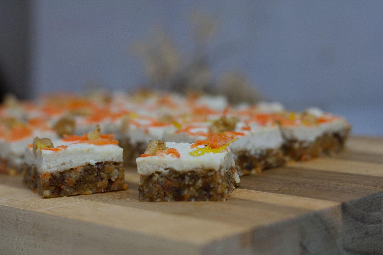 roh-vegane glutenfreie Carrot Bites