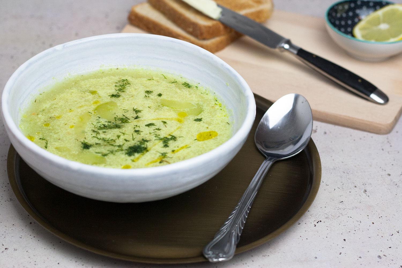 vegane Gurken-Dill-Suppe
