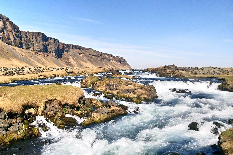 unterwegs vegan Essen in Island Landschaft