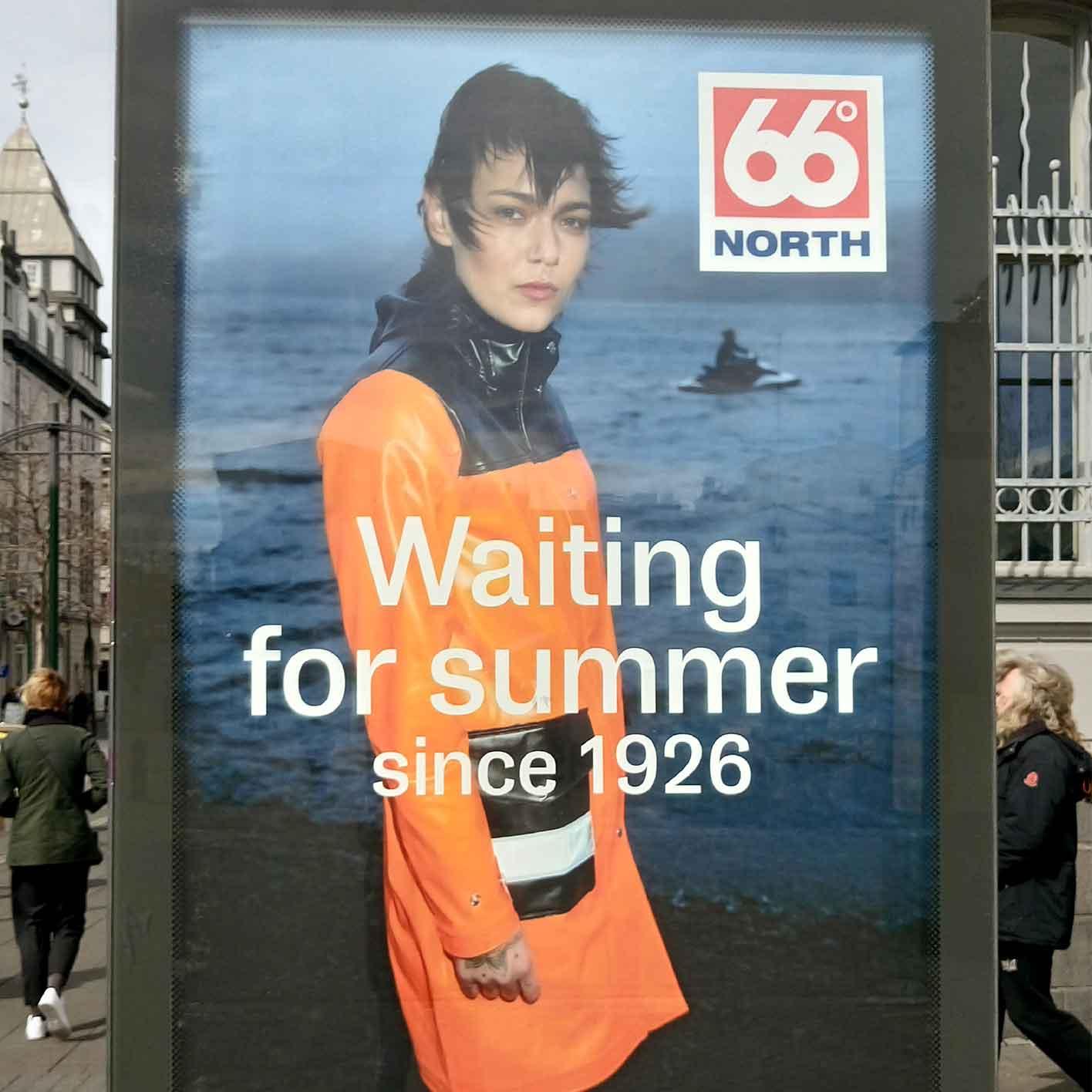 Isländische Werbung