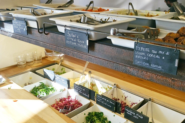 vegan Essen in Rom im 100% Bio, Buffet