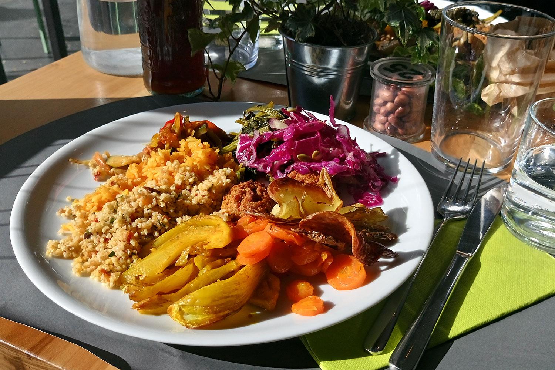 vegan Essen in Rom im 100% Bio, unser erster Teller