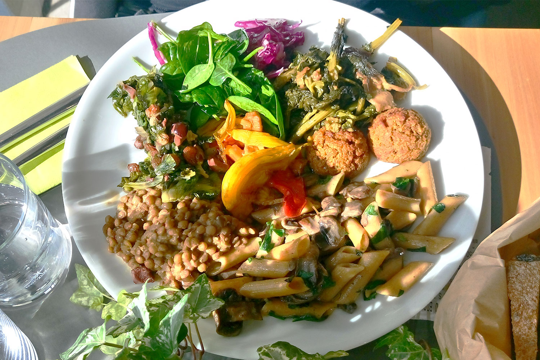 vegan Essen in Rom im 100% Bio, unser zweiter Teller