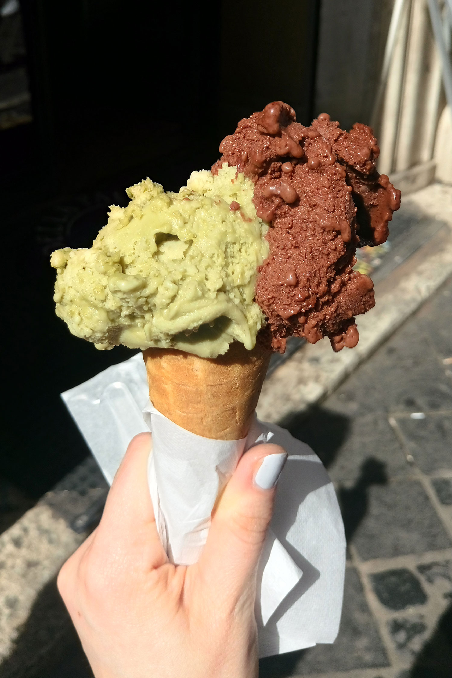 vegan essen in Rom, veganes Eis in der Gelateria della Palma, mein Eis