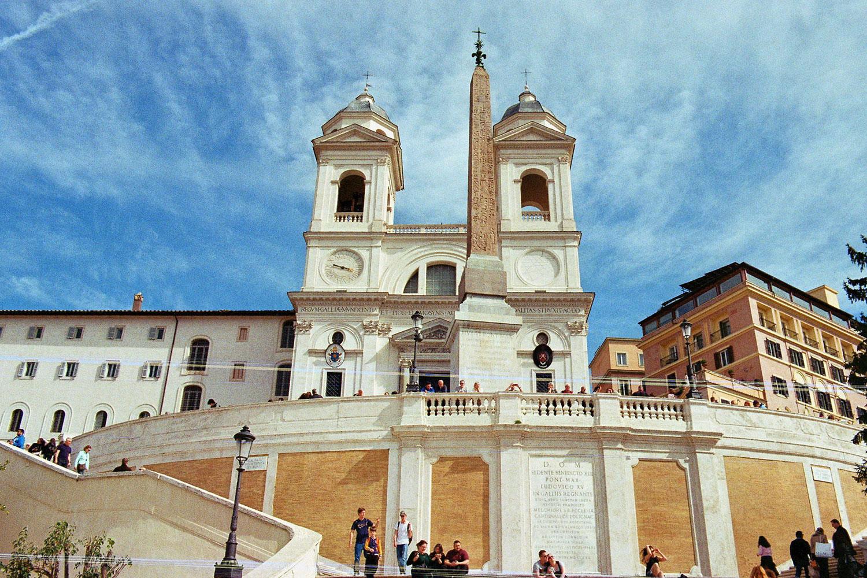 Spanish Steps in Rom, vegan essen in Rom