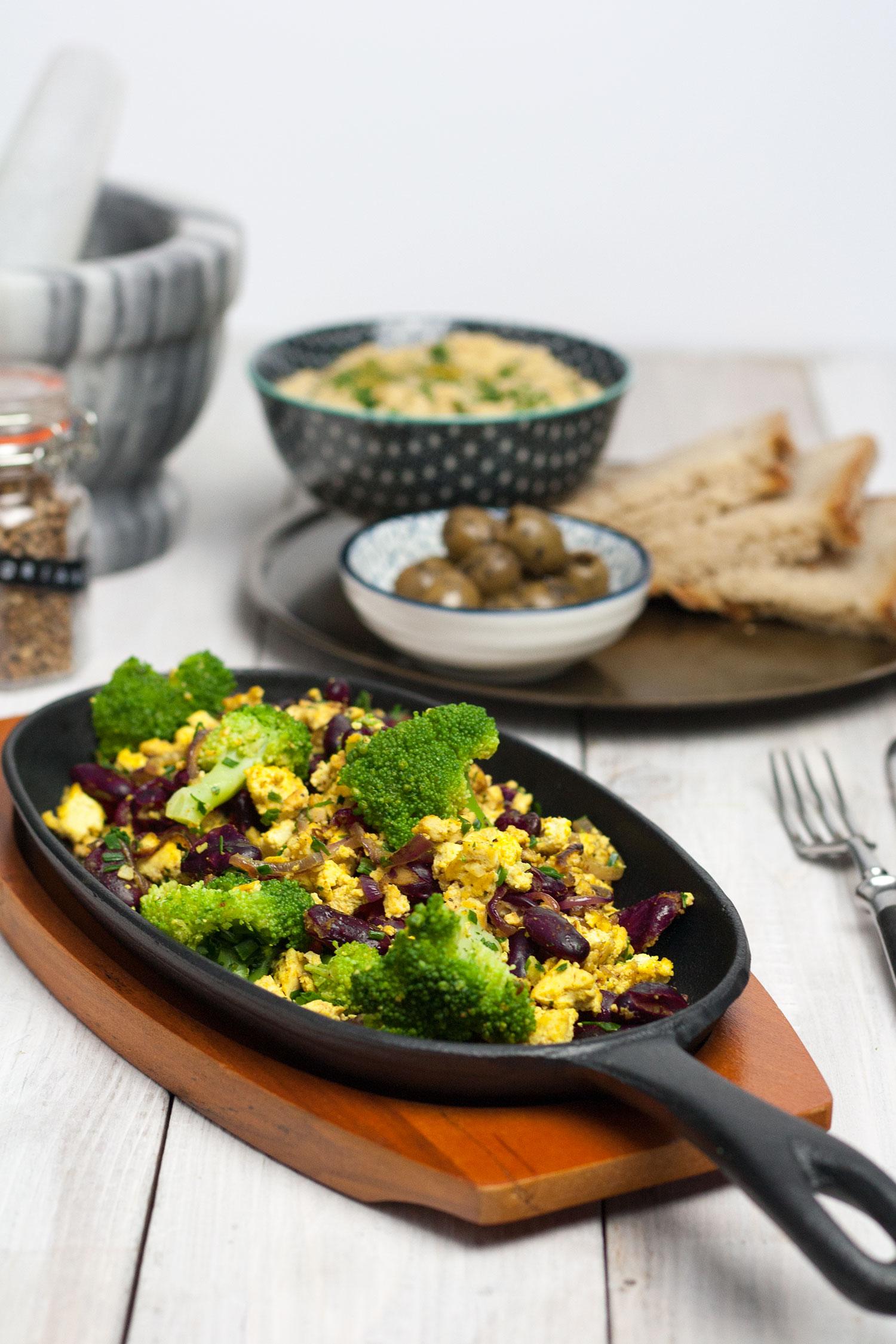 protein breakfast skillet vegan gf rezept mangold muskat. Black Bedroom Furniture Sets. Home Design Ideas