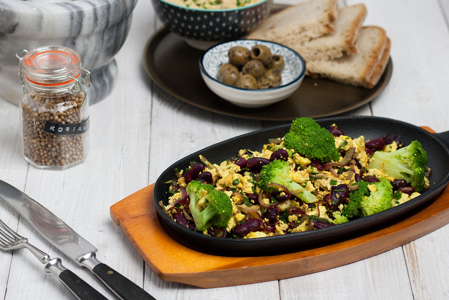 recipe for a unusual vegan breakfast skillet | Protein Breakfast Skillet vegan und glutenfrei