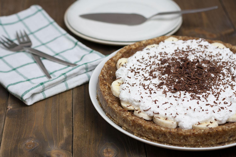 veganer rohköstlicher Banoffee Pie
