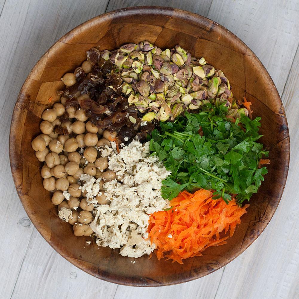 Karotten-Salat vegan, glutenfrei
