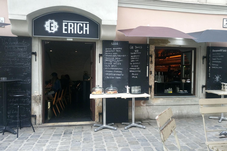 vegan essen in Wien im Erich von außen