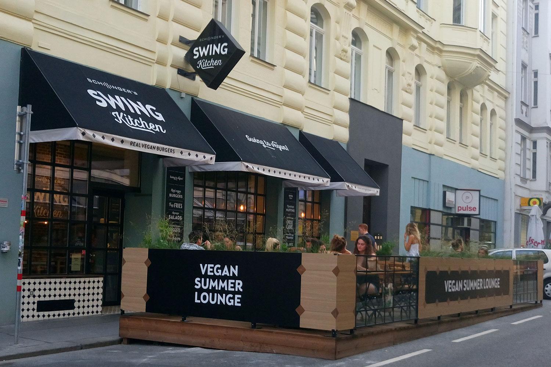 vegan essen in Wien Swing Kitchen von außen