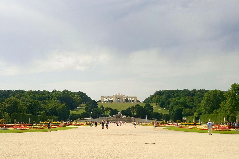 vegan essen in Wien Aussicht Schloss Schönbrunn