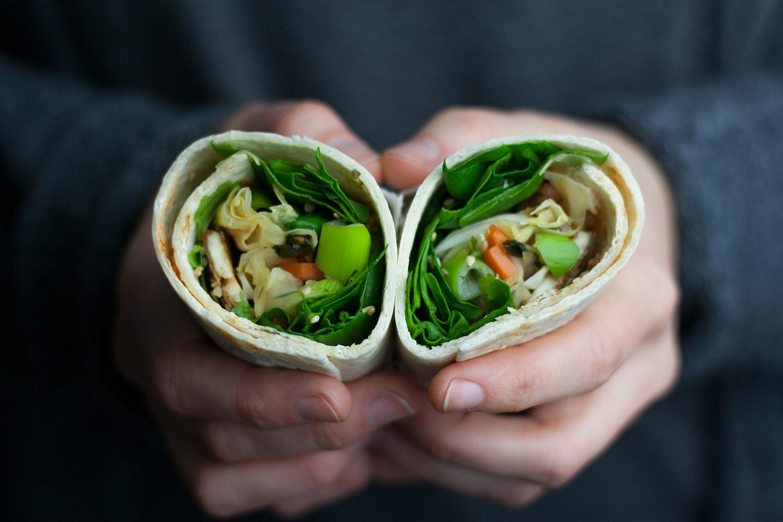 vegan kimchi wrap