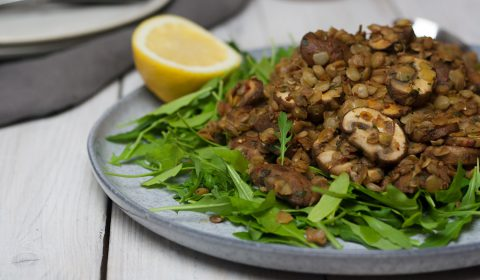 Linsen Pilz Salat