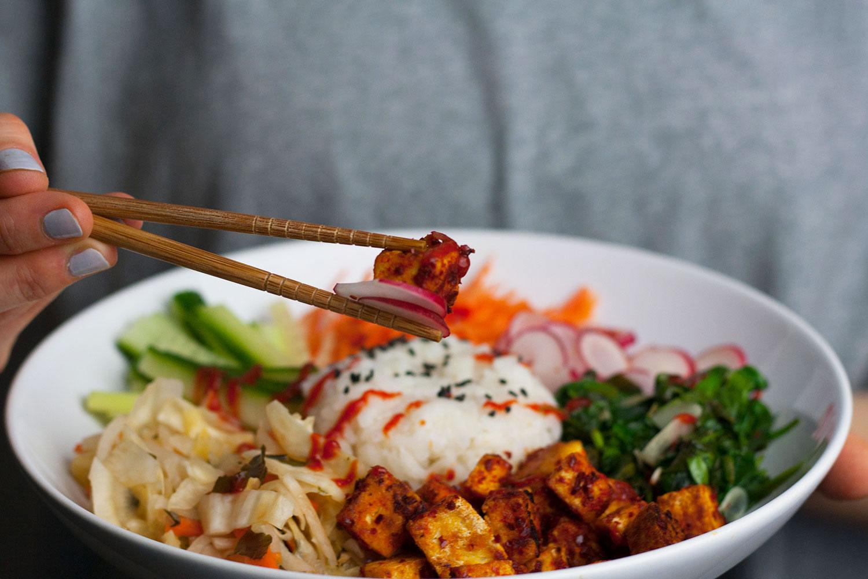 vegan sushi bowl with kimchi | Sushi Bowl mit Kimchi