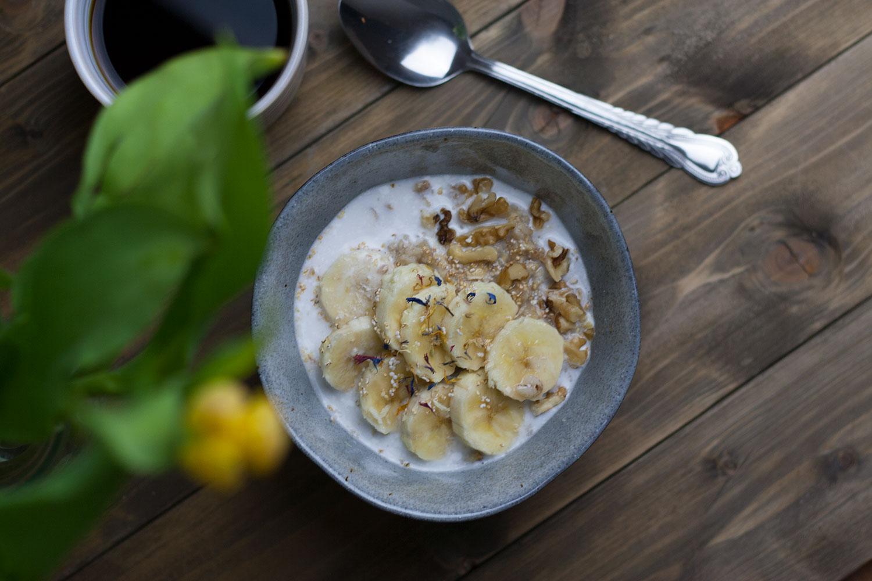 Porridge mit Kokosmilch