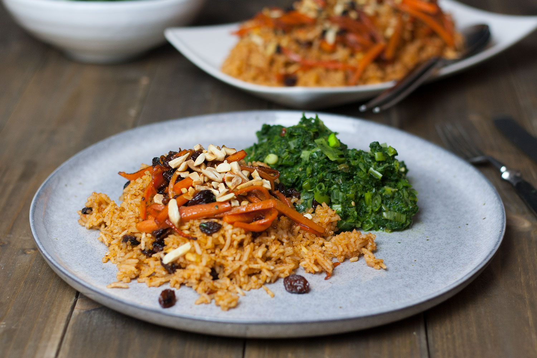 quick Kabuli Palau - afghan national dish | schnelle Variante des afghanischen Kabuli Palau