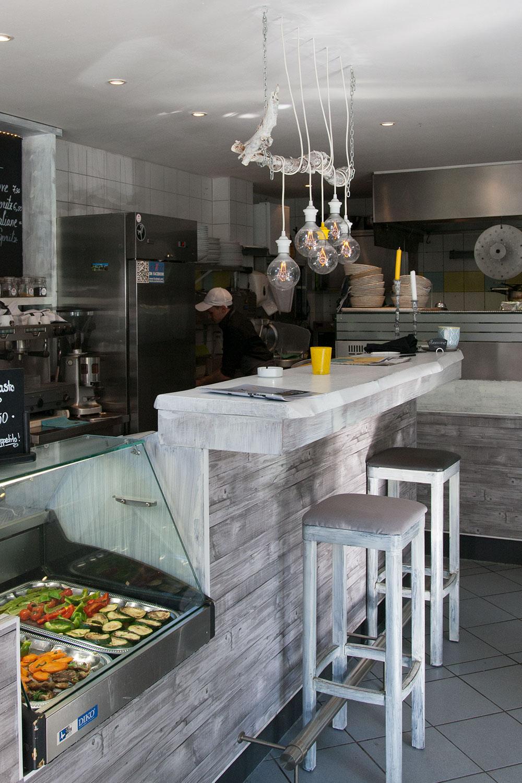 das italientische Restaurant Mixto Cucina in München, das vegane Gerichte angbietet