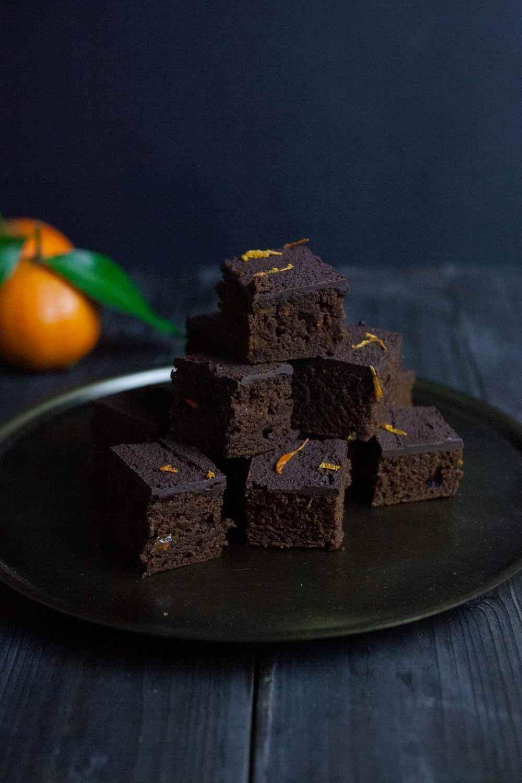 Orangen Lebkuchen Schnitten schmecken wie Softcake