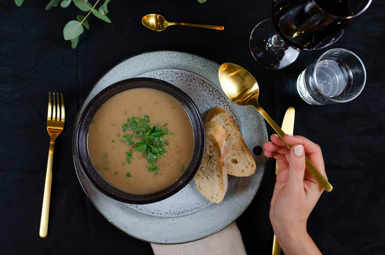 vegane Maronensuppe