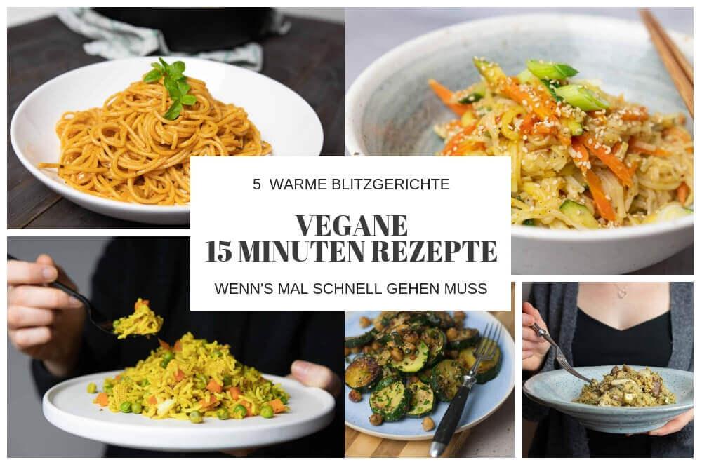 schnelle, vegane Mahlzeiten