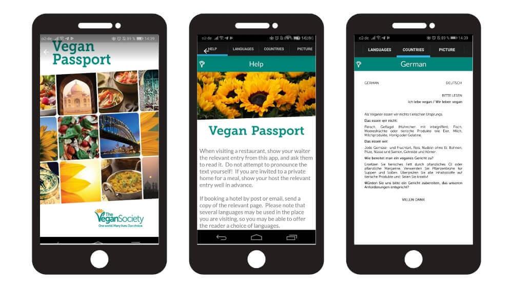 Vegan Passport App zur Verständung im Hinblick auf die vegane Ernährung