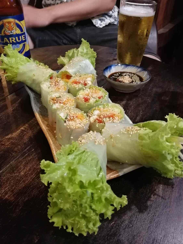 vegane vietnamesische Sommerrollen