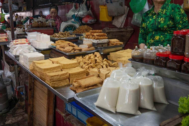 Tofu auf dem Markt in Vietnam