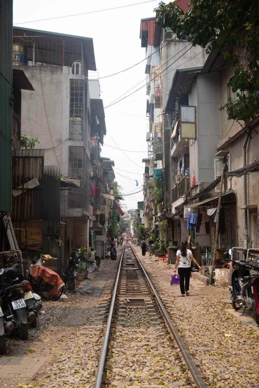 Eisenbahnstraße in Hanoi