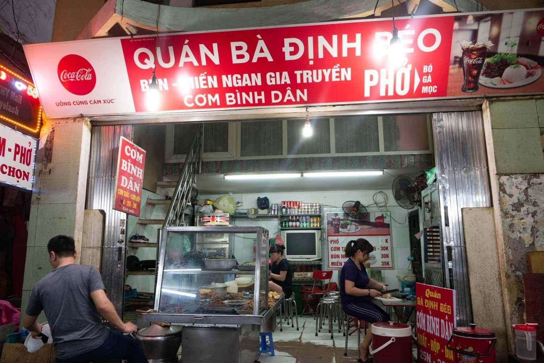 vietnamesisches Restaurant mit Reisgerichten