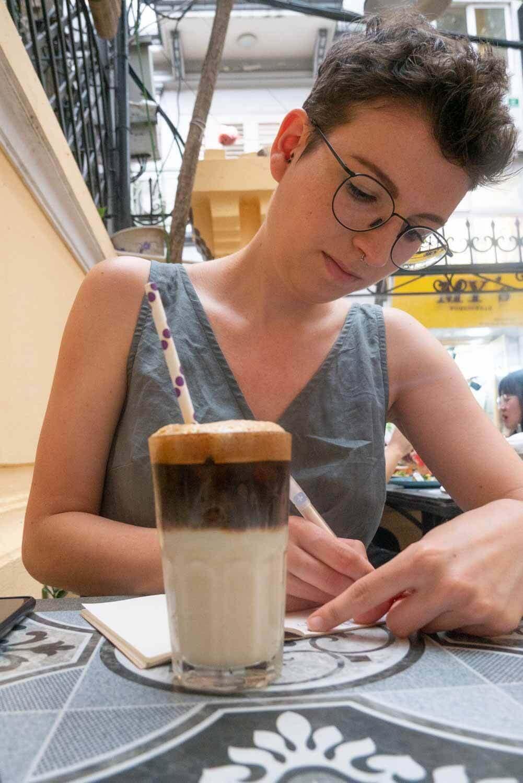vegane Milchkaffee in Hanoi
