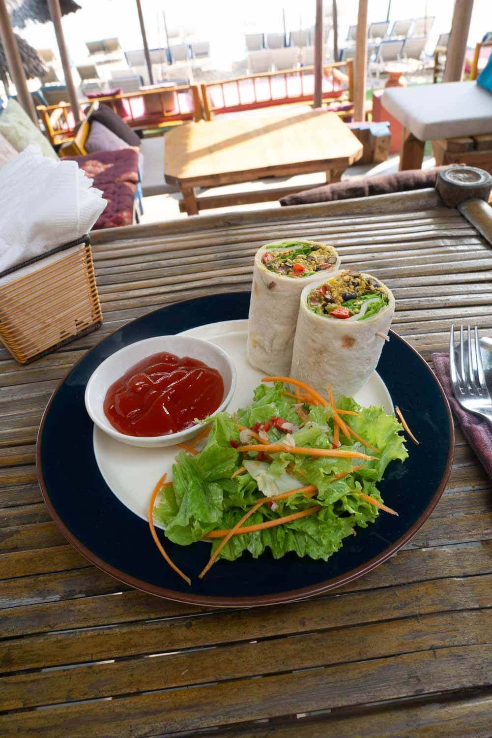 vegane Breakfast Burritos in Vietnam