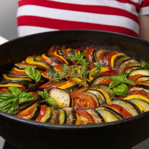 Basisches Gemüse Ratatouille