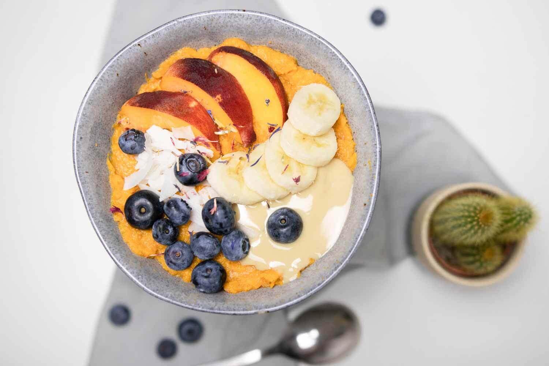 Süßkartoffel Bowl zum Frühstück