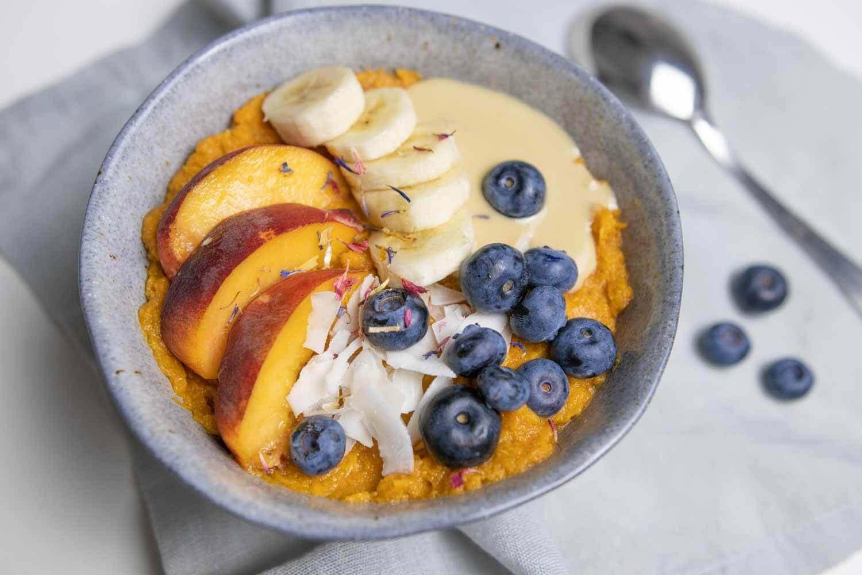 Basisches Frühstück aus Süßkartoffeln