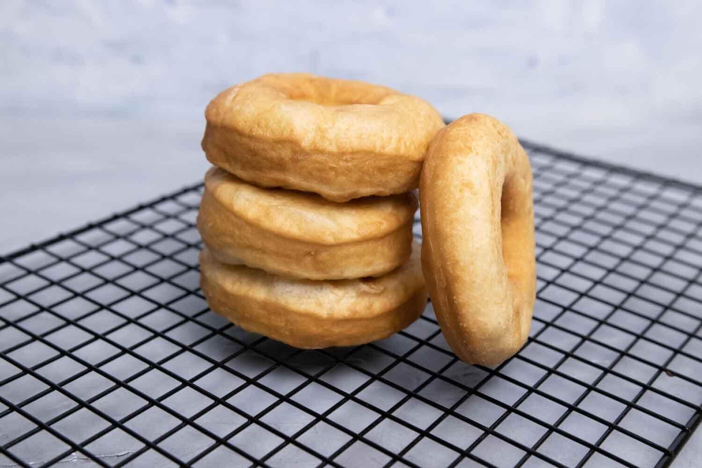 vegane, frittierte Donuts
