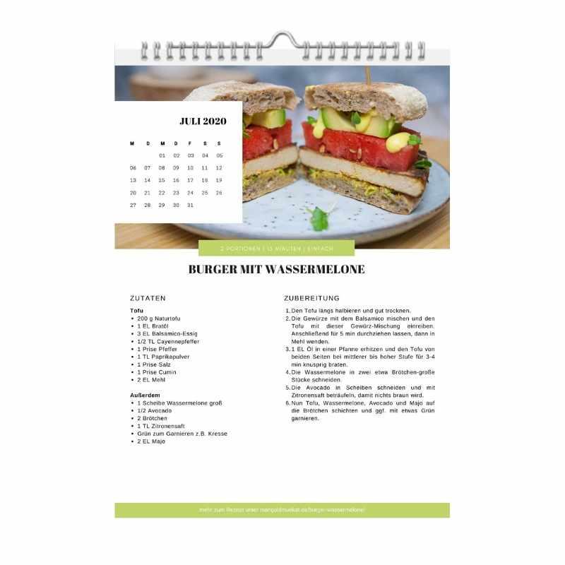 Ausschnitt aus dem Rezept-Kalender