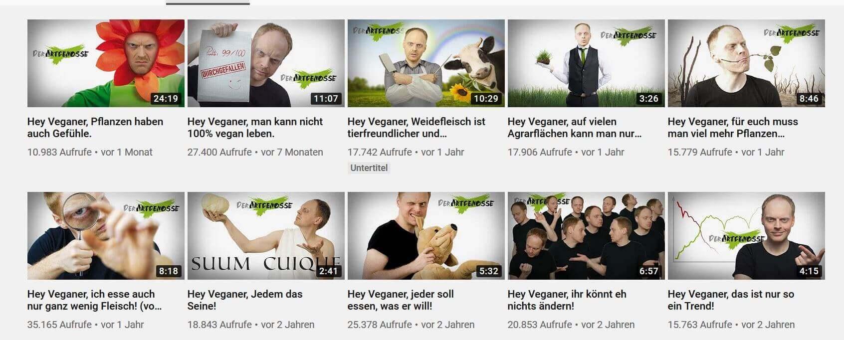 Youtube-Kanal von der Artgenosse