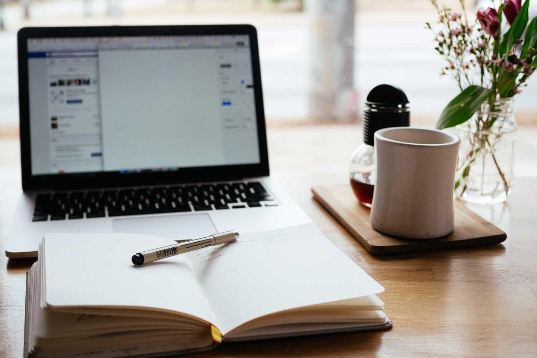 Bloggen am Laptop