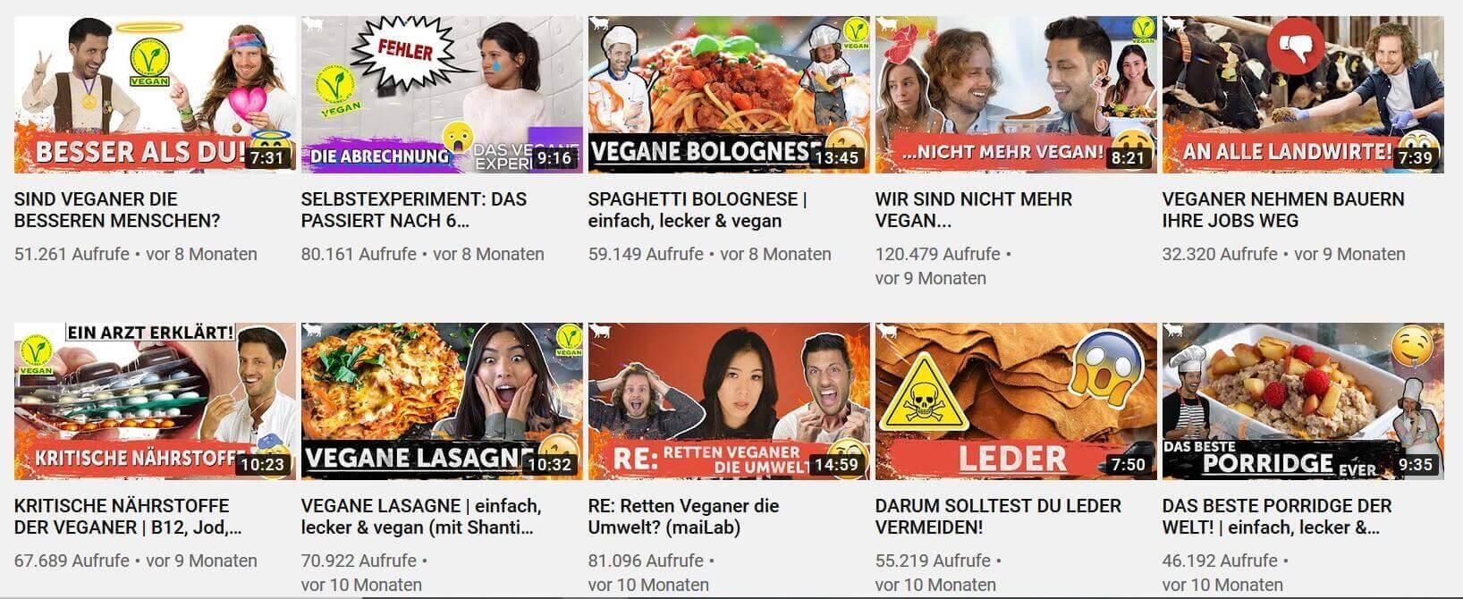 Youtube-Kanal von Vegan ist ungesund
